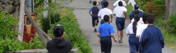 遅くなりましたが校内マラソン!
